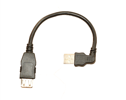 Picture of USB A-Male to A-Female Extention Left Angle CCT-25L
