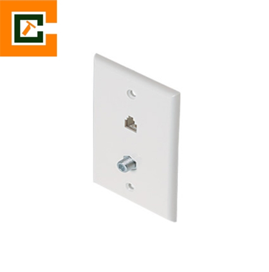 Picture of Cable/Telephone Wall Jack  CCT-300-234WH