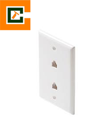 Picture of Dual Port Wall Jack CCT-301-214WH