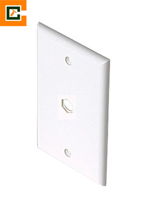 Picture of Cable Wall Plate Blank - White CCT-BP1WH