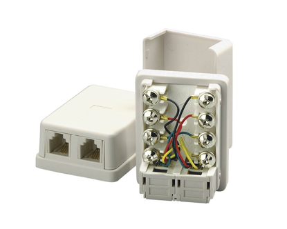 Picture of 4C Duplex Surface Mount Jack   CCT-NW-1044W