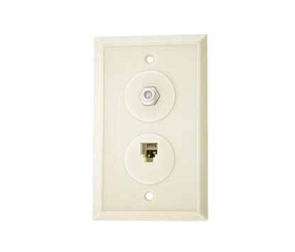 Picture of 4C Wall Plate W/F81  CCT-TE172