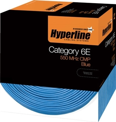 Picture of Hyperline Cat6 Plenum Cable UTP/CMP 1000ft  CCT-UTP4-C6-CMP-BL