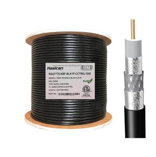 Picture of Underground Flooded RG6 Coaxial Cable   CCT-RG6-77TS-KBF-BLK1P