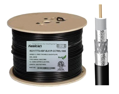 Picture of Underground Flooded RG11 Coaxial Cable   CCT-RG11-77TS-KBF-BLK1P