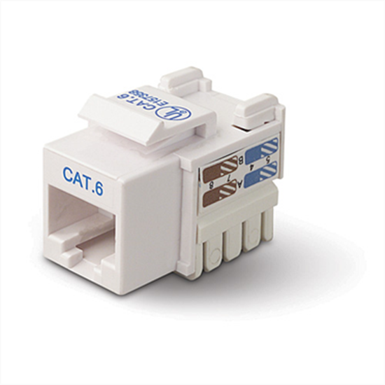 Picture of Cat-6 Keystone Jack, Punch Down   CCT-KJC6PDWE