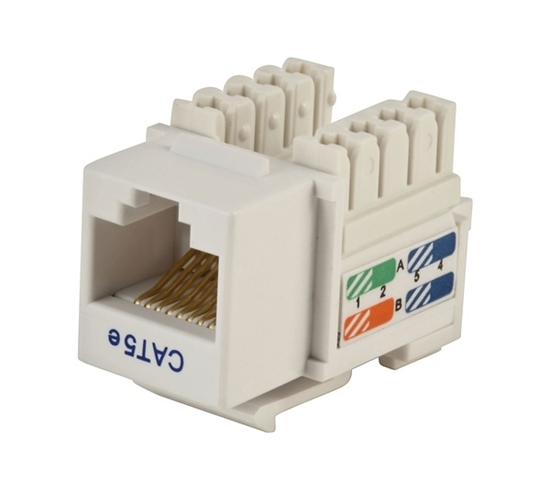 Picture of Cat-5e Keystone Jack, Punch Down   CCT-KJC5PDWE