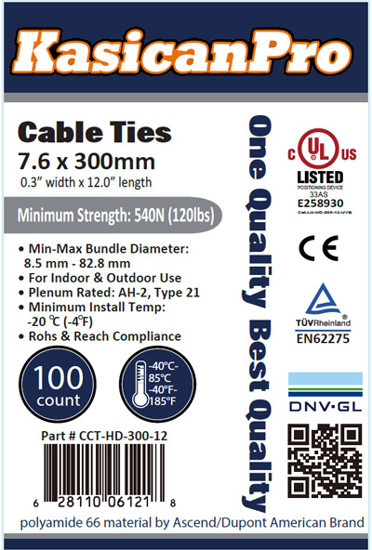 Picture of Plastic Cable Tie CCT-HD-300-12
