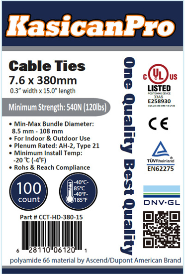 Picture of Plastic Cable Tie CCT-HD-380-15